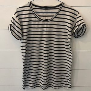 Navy + White Striped J.Crew Tee